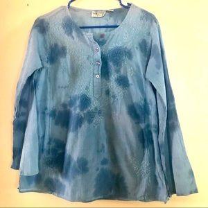 Light Blue 100% Cotton LS Shirt